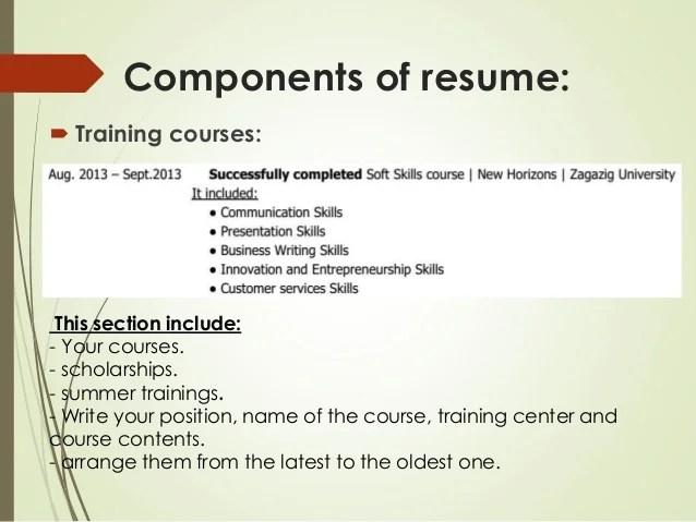 resume writing training - Goalgoodwinmetals