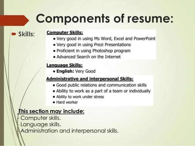 resume computer skills section radiovkm - Computer Skills On Resume