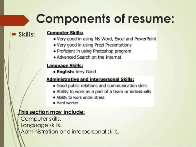resume computer skills section radiovkm