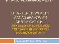 CWM Accreditation under SEBI Investment Adviser ...