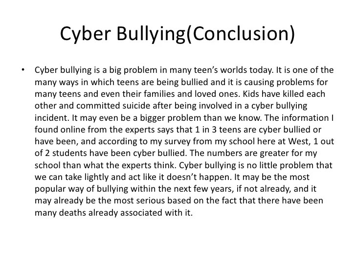 Cyber Bullying Powerpoint
