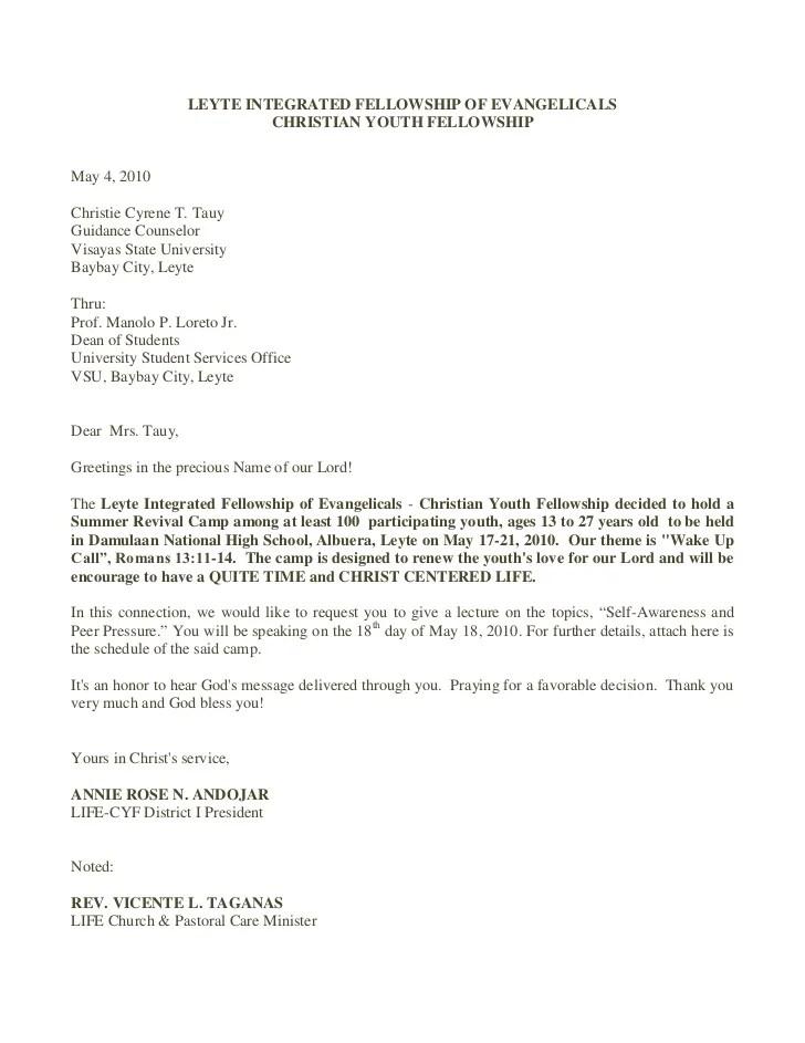 church invite letter