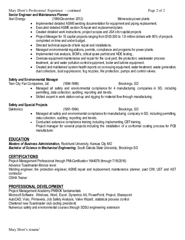 pm resumes - Alannoscrapleftbehind - certified project manager sample resume