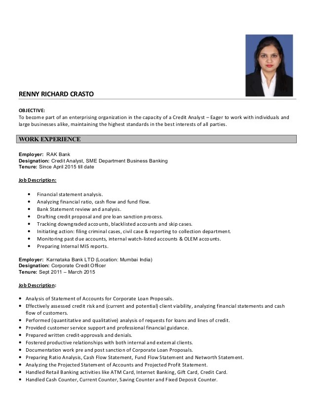credit manager resume - Alannoscrapleftbehind - credit research analyst sample resume