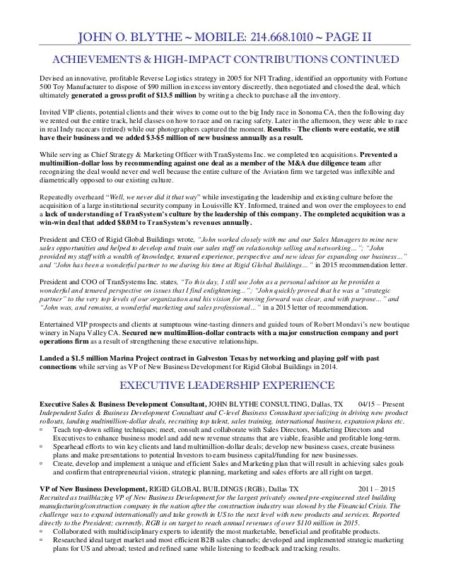 sales and marketing vice president resume - Canasbergdorfbib