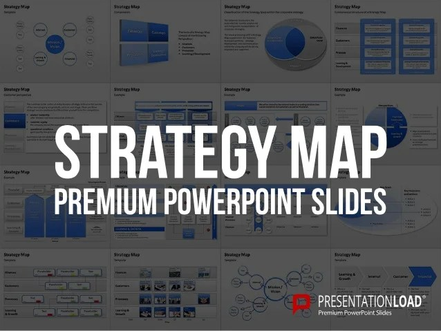 Creative Strategic Plan Template Strategy Map Powerpoint Template