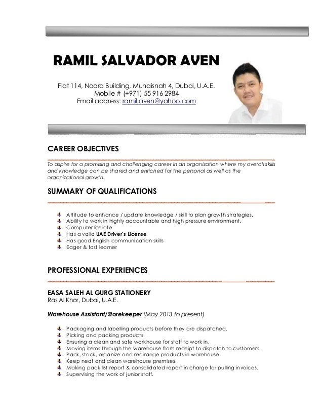sample ng resume - Apmayssconstruction