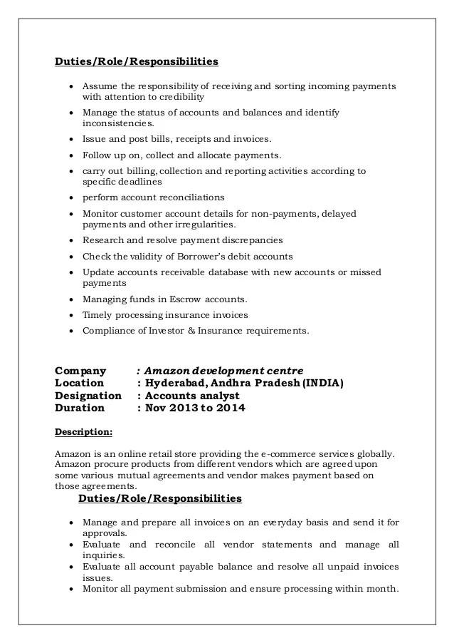 resume summary description