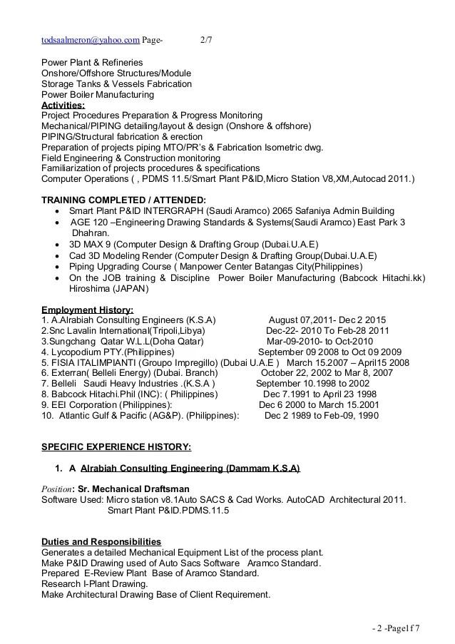 caddesignerresume 160209212448 thumbnailjpgcb1455053150 autocad - Cad Designer Resume