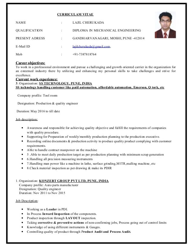 Experience Resume For Mechanical Engineer new mechanical engineer - automotive mechanical engineer sample resume