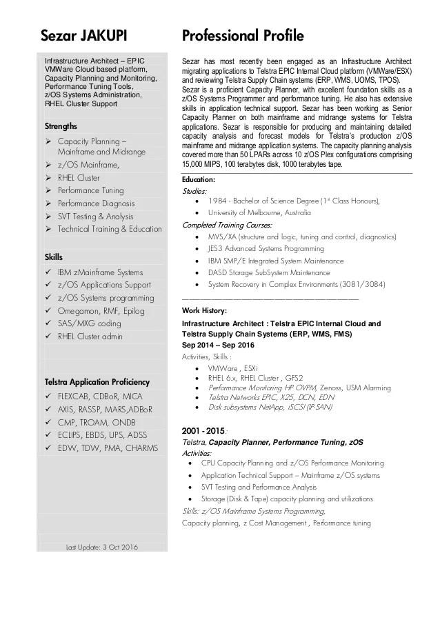mainframe sample resumes - Josemulinohouse