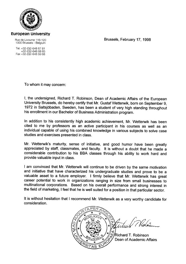linkedin letter of recommendation