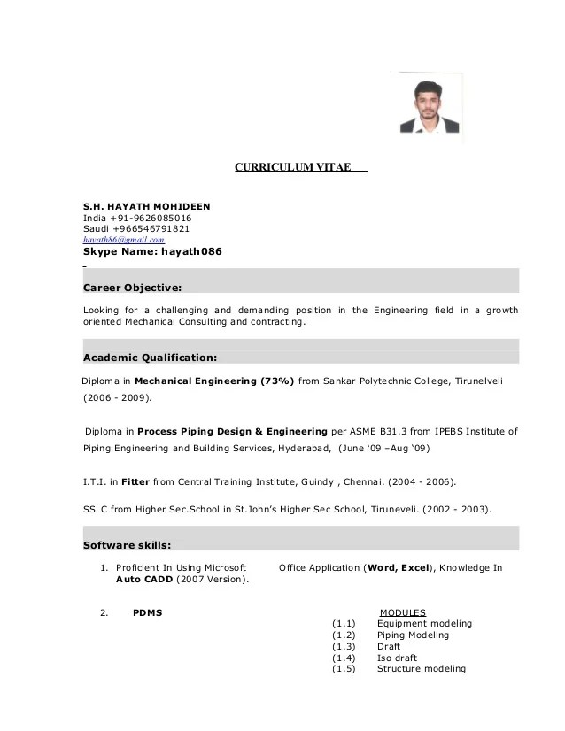 Mechanical Fresher Resume Samples Format  More than     pdf
