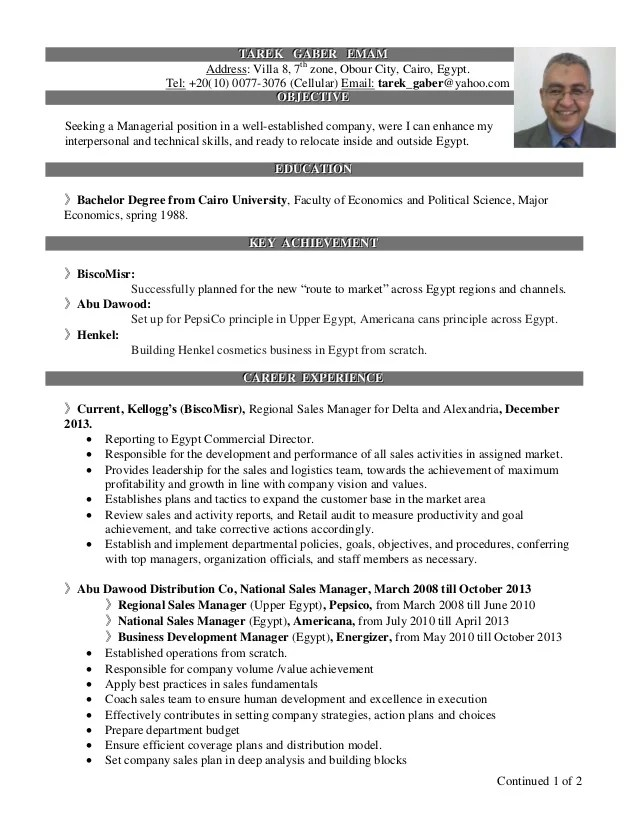 national sales manager resume - Onwebioinnovate - National Sales Director Resume