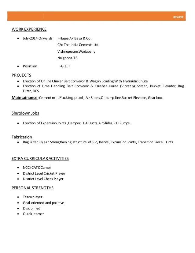 normal resume format - Onwebioinnovate - normal resume format