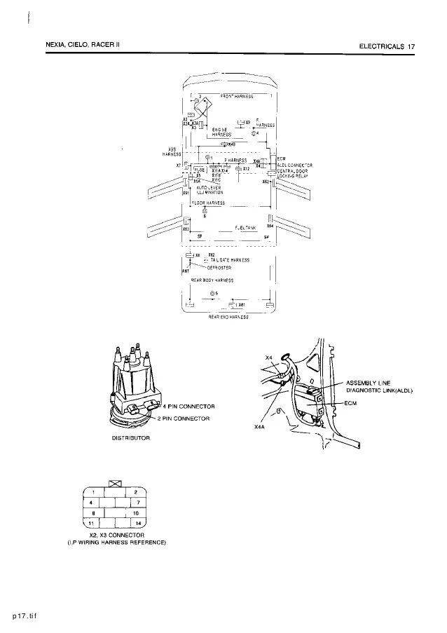 daewoo nubira wiring diagram
