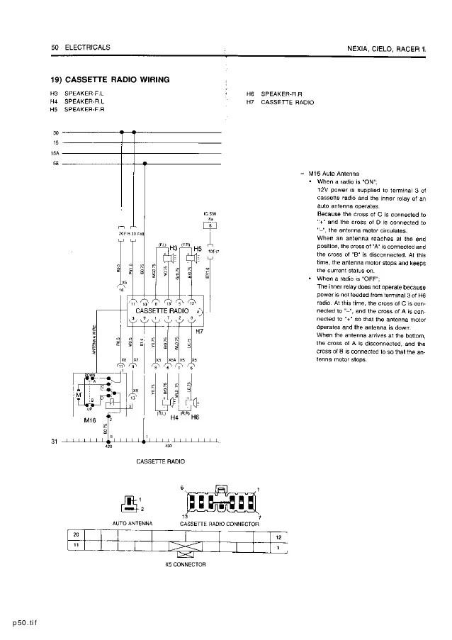daewoo nubira engine diagram