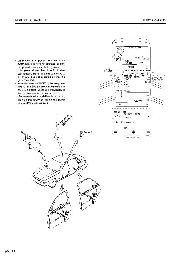 DAEWOO CIELO WIRING DIAGRAM - Auto Electrical Wiring Diagram