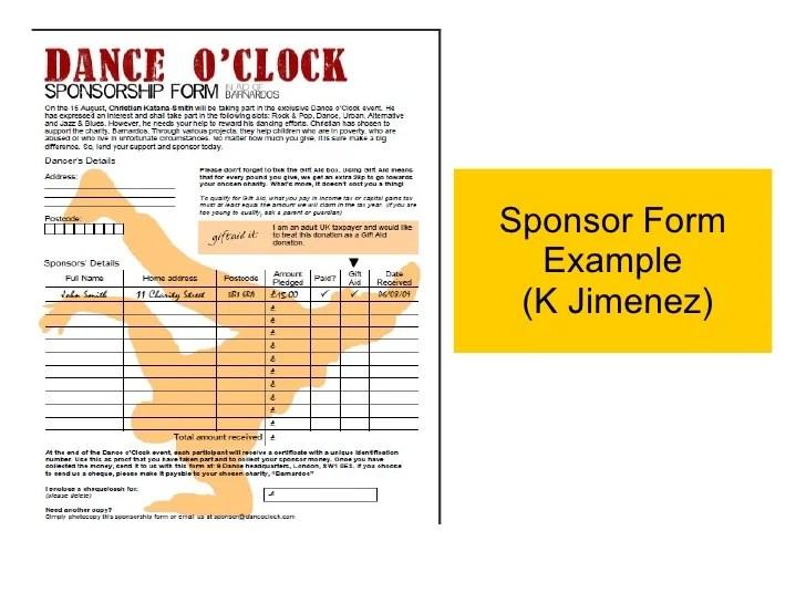 sponsorship form sample - Towerssconstruction