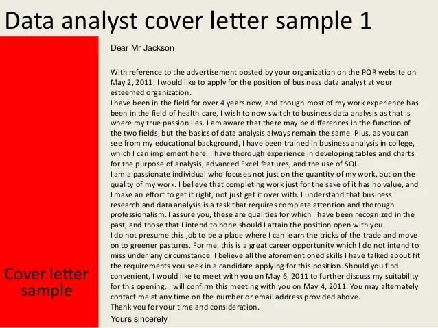 database analyst cover letter - Onwebioinnovate