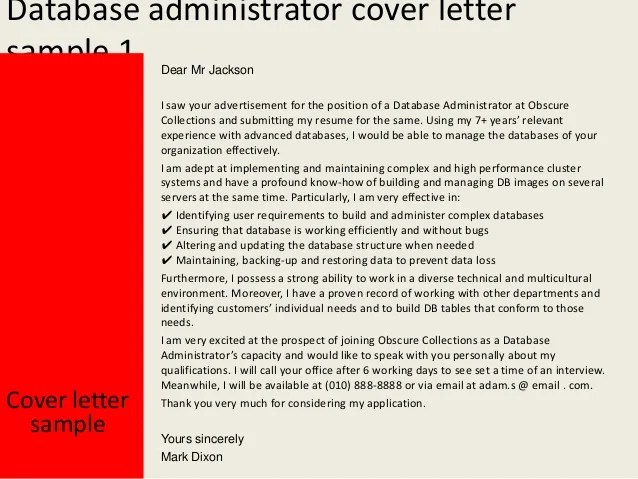 Writing A Cover Letter With No Experience Youth Central Database Administrator Cover Letter