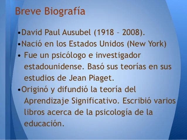 Libros De Ausubel David Ausubel