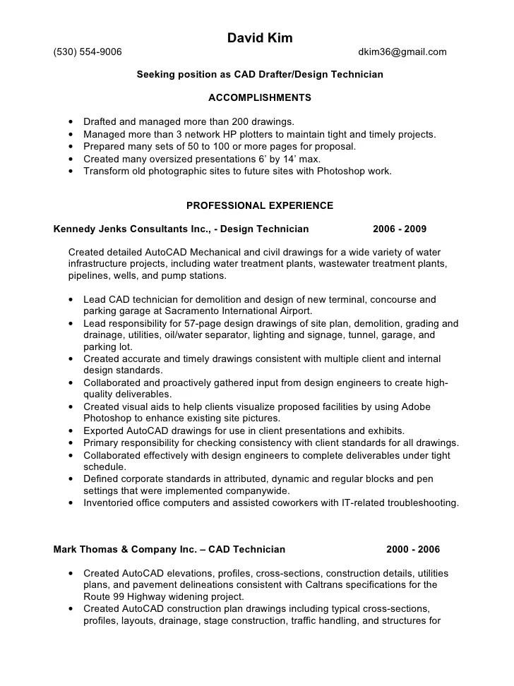 Autocad design engineer resume