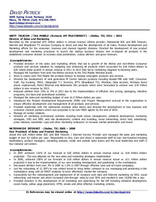 sample resume project manager telecommunications - Sample Resume Project Manager
