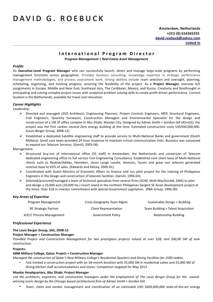 sample resume format in canada