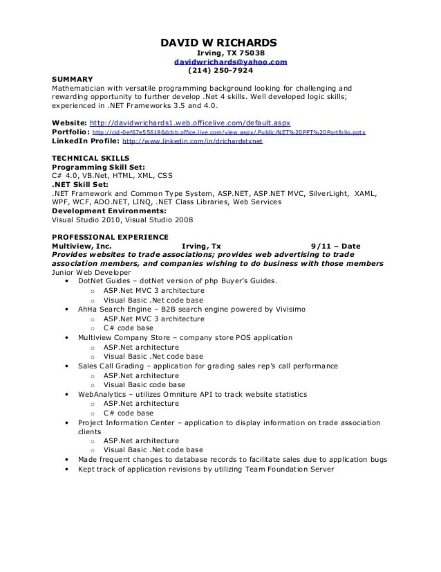 resume warehouse