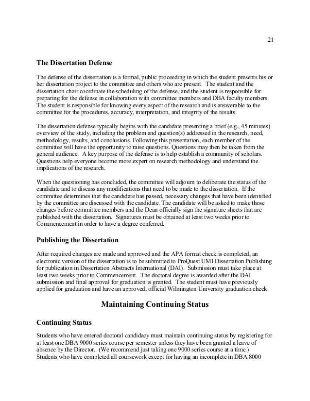 dba dissertation subject
