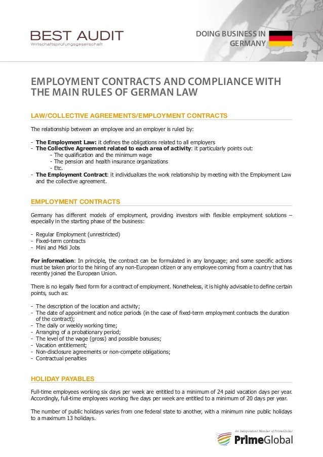 Collective Agreement Contract Of Employment – Sample Collective Bargaining Agreement