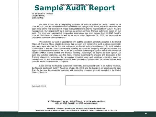 financial audit report template - Minimfagency