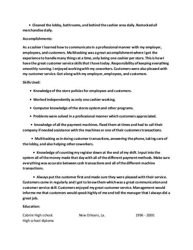 Accomplishments for a resume