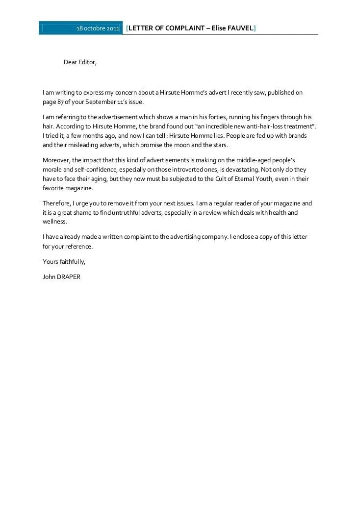 email letter complaint letters of complaint oxford dictionaries anglais write a letter of complaint
