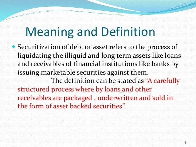Debt securitisation