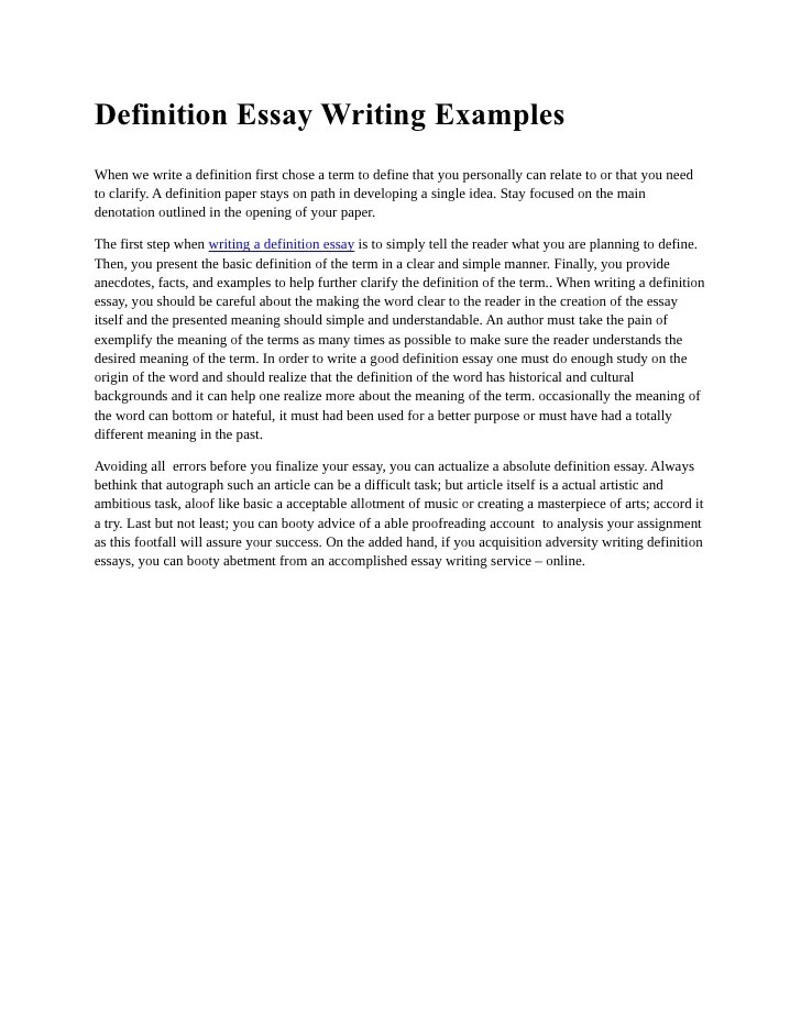 types of essay writing examples
