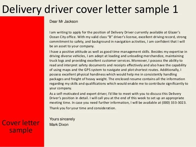 Online Job Application System Guj Delivery Driver Cover Letter