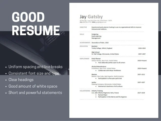 good and bad resumes - Muckgreenidesign - Good Resume Example