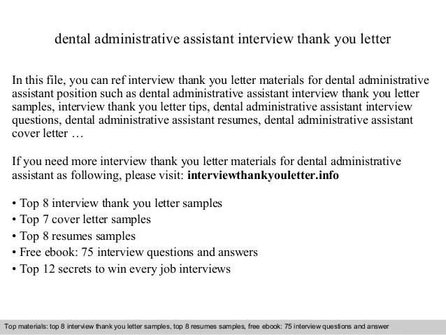 dental assistant thank you letter -