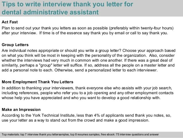 dental assistant thank you letter - Yelommyphonecompany