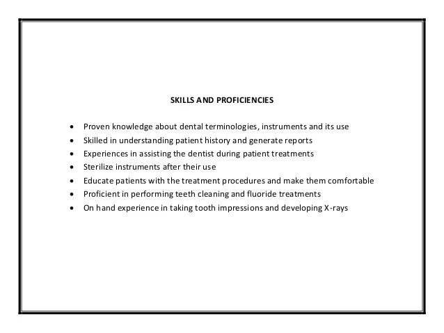 dental assistant sample resume - Goalgoodwinmetals