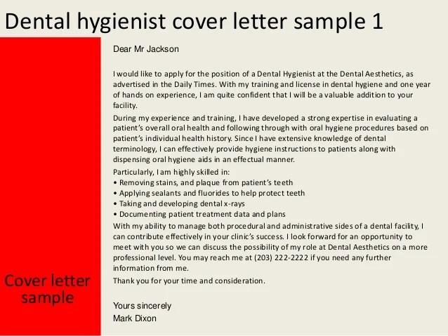 dental hygiene cover letter samples - Selol-ink