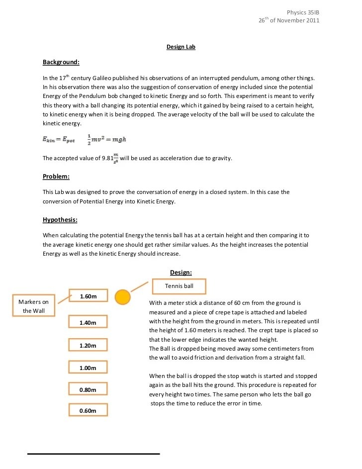 Ib Lab Report Example – Sample Lab Report