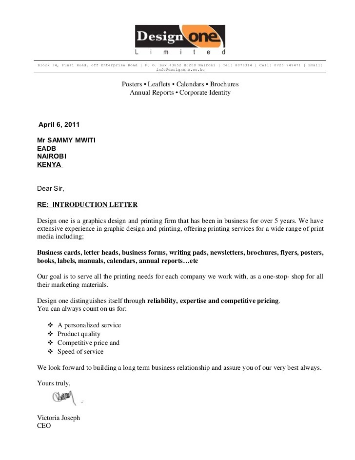 business letter of introduction - Towerssconstruction
