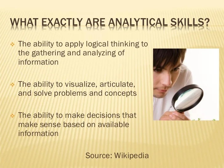 analytical ability - Selol-ink