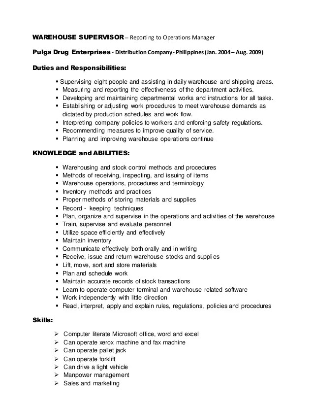 Writing An Excellent Essay Basic Rules To Be Observed warehouse - sample resume for warehouse supervisor