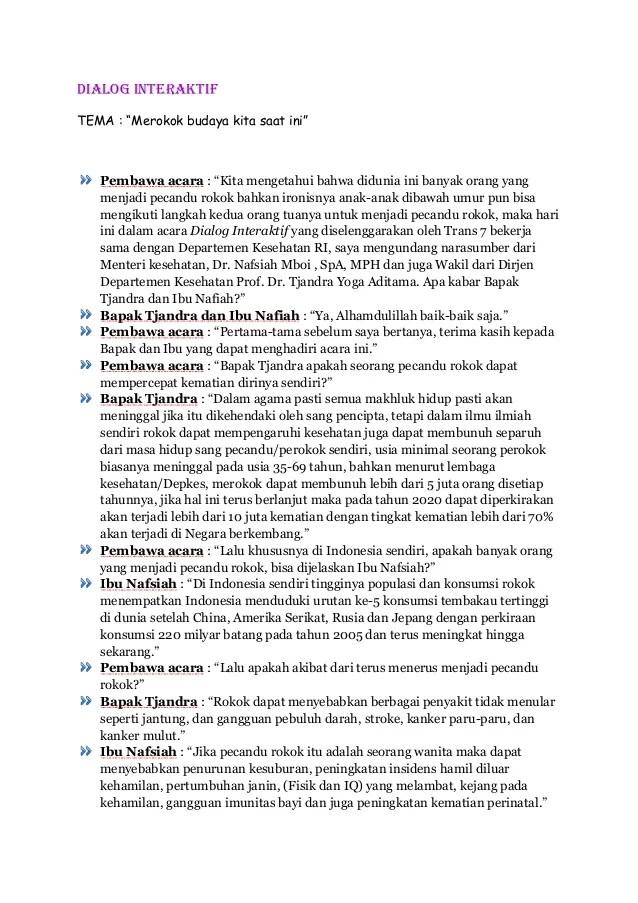 Contoh Teks Dialog Interaktif Di Televisi Definisi Dan Pengertian Dialog Interaktif Serta Contoh Contoh Dialog Interaktif Pelajaran Bahasa Indonesia Di Review Ebooks