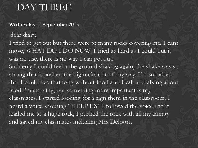 Entry4 Earthquake Diary Entry
