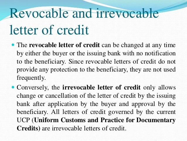 Letter Of Credit Lc Icc Ucp 600 Different Means Of Remittance